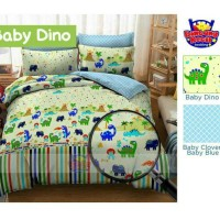 SPREI KATUN ANAK BABY DINO BED SINGLE UK 140/120/100/90