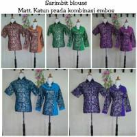 sarimbit blouse kombinasi embos/grosir+ eceran pekalongan