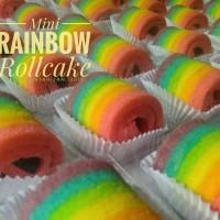 mini rainbow roll cake (bolu gulung pelangi)