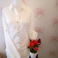 kemeja blus putih wanita polos zara lembut JUMBO