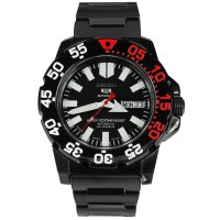 Jam Tangan Seiko 5 SNZF53K1 Mini Monster 100M Black Red Original