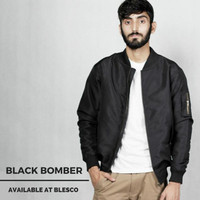 Jaket Bomber Parasut Bolak Balik 2 in 1 Bunda Store - Black