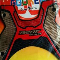 Karpet Motor Honda BEAT NEW PGM F1 Kombinasi Warna RED~Gold uj