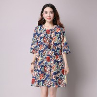 Blue Early Flowers Dress