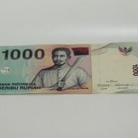 Mahar Pernikahan Uang Kertas 1000 Rupiah Pattimura Tahun 2013 UNC