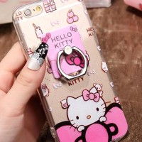 Oppo F1S A59 Softcase Motif Hellokitty Swarosky + Ring Stand Case Hp