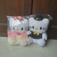 Jual boneka hello kitty couple wedding married Murah