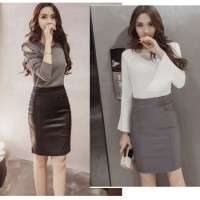 SKIRT GRAY / BLACK HOT LEATHER BF89D IMPORT