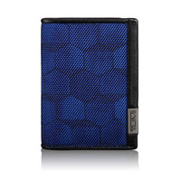 TUMI Gusseted Card Case With ID Blue Geo Print #119256BGPID