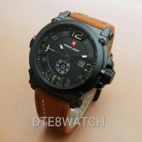 Jual Jam Tangan Pria Original Swiss Army LIMITED Leather 1 Year Guaranted Murah