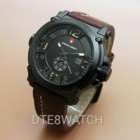 Jual Jam Tangan Pria Original Swiss Army LIMITED Leather 1 Year Guaranted Murah