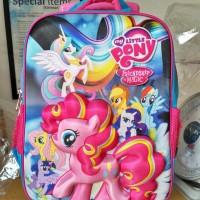 Jual Tas Sekolah Anak Kuda Poni 3d Troli ,Bahan Import Murah