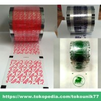 Plastik Lid Cup Sealer Sablon Custom / Desain Custom [1 rol]