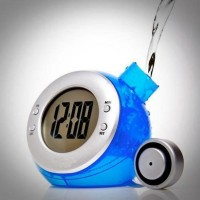 Water Powered Digital Clock With Temperature Function / Jam Temperatur