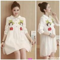 Dress wonder white-dress tokopedia-mini dress murah-fashion-sale-AL
