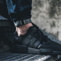 Adidas NMD R1 Triple Black / White/ Red 100% Authentic