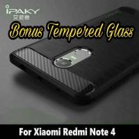 Jual Case Xiaomi Redmi Note 4 Carbon Excelusive Bonus Tempered Glass Murah