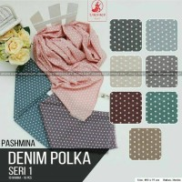 Jual Pashmina Denim Polka by Umama /Pashmina Murah Murah