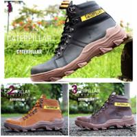 Sepatu Caterpillar Foundation Safety Ujung Besi Sepatu Boots Pria