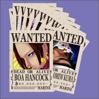 BOUNTY POSTER WANTED One Piece karakter BoaHancock dan Shicibukai lain