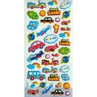Sticker Stiker Anak Timbul Alat Transportasi