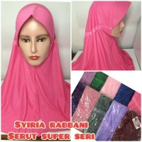 jilbab hijab kerudung syiria rabbani rabani super serut seri