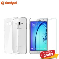 Tempered Glass SAMSUNG GALAXY ON7 Anti Gores Casing Softcase Bening