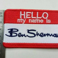 Vintage HELLO My Name Is Ben Sherman Embroidered Patch Kaos & Jacket