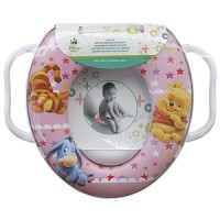 Soft Baby Potty Seat - Ring Closet With Handle - Winnie The Pooh Pink