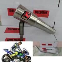 Knalpot racing AKRAPOVIC GP rossi R15/Xabre/Vixion/Cbr150/Cb150 ,dll