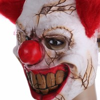 Topeng badut seram clown mask party Halloween cosplay payday latex