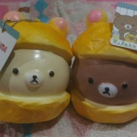 Kawaii Jumbo Cap Rilakkuma Squishy Bread Scented with Tag rilakuma