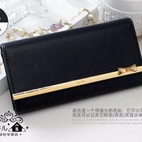 [Murah] Dompet Import Wanita Cewek Korea - Kqueenstar Wallet BLACK Mur