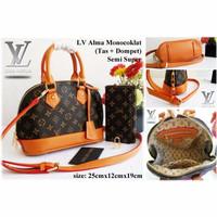(Sale) LV Alma Damier Set Dompet tas handbags wanita permpuan cewek
