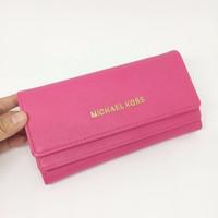 [Premium] Grosir dompet wanita branded cewek murah, MK Double Flip Wal