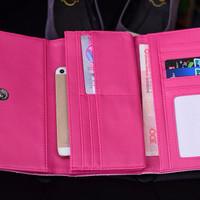 [Original] Dompet cewek wanita dua warna ungu pink Import