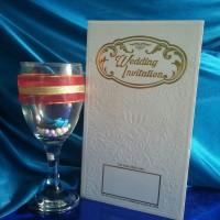 Undangan Pernikahan Hardcover Royal Elegant White