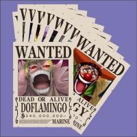 BOUNTY POSTER WANTED One Piece karakter Doflamingo dan Shicibukai lain