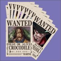 BOUNTY POSTER WANTED One Piece karakter Crocodile dan Shicibukai lain