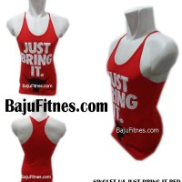 Kaos Under Armour - SINGLET UA JUST BRING IT RED