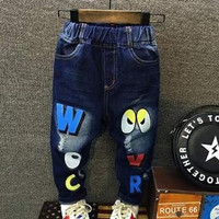 Jeans Look Owl | Celana Jeans Anak | Jeans Ripped