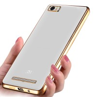 Softcase CHROME Xiaomi Mi4 / Mi4i / Mi4c Casing HP Cover Silicone Case