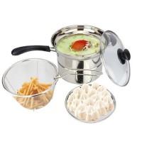Multi Pot 22 cm / Steamer & Fryer 2 IN 1 / Panci Multi Fungsi