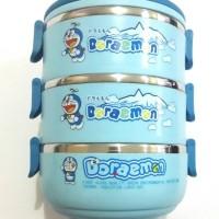 Lunch Box Doraemon / Rantang 3 Susun Kotak Makan Stainless Bekal