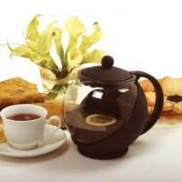 Teapot 1250 ml / Teko kaca ceret tempat teh saringan stainless tea pot