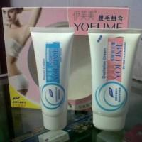 Yofume Cream Obat Perontok Bulu Kaki Tangan Ketiak Permanen