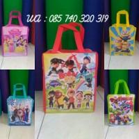 Jual Goodie Bag Tas Souvenir Ulang Tahun/Ultah Anak model retsleting Murah
