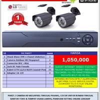 Paket 2 Kamera CCTV Outdoor Ekonomis Camera Online Android Iphone