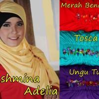 PASHMINA ADELIA /Pasmina Bahan Kaos/Hijab /Kerudung Persegi Panjang