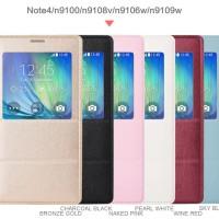 Jual Flip Cover Samsung Galaxy Note 4 / Flip Case S-View Smart Dengan Chip Murah